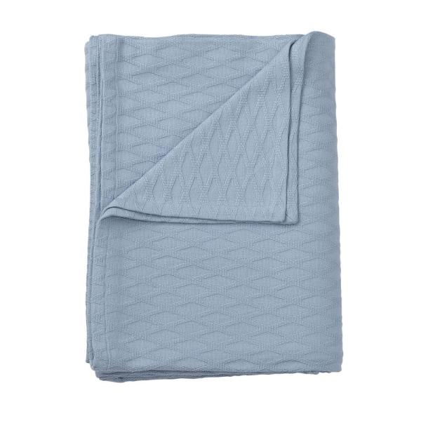 The Company Store Cotton Bamboo Misty Blue Queen Blanket KO67-Q-MISTY-BLUE