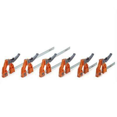 Lever Clamp Set Includes Two 6 in., Two 12 in., Two 24 in. Lever Clamps (6-Piece)