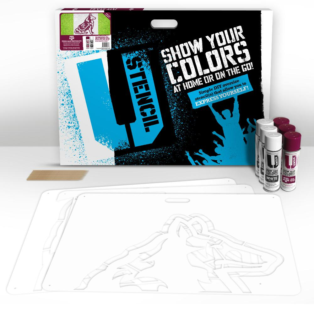 U Stencil Texas A and M Reveille Lawn Stencil Kit