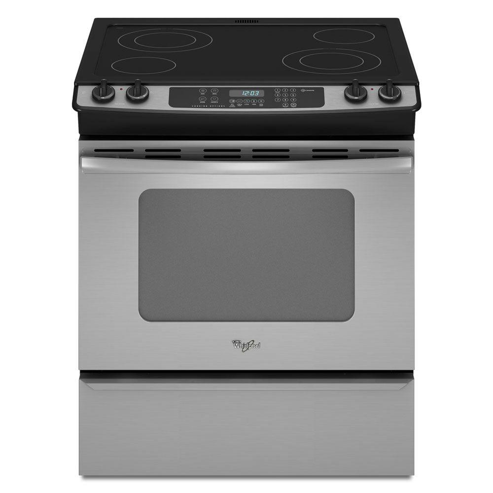 Whirlpool Gold 4.5 cu. ft. Slide-In Electric Range with Self-Cleaning Oven in Stainless Steel