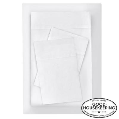Brushed Soft Microfiber 4-Piece King Sheet Set in White