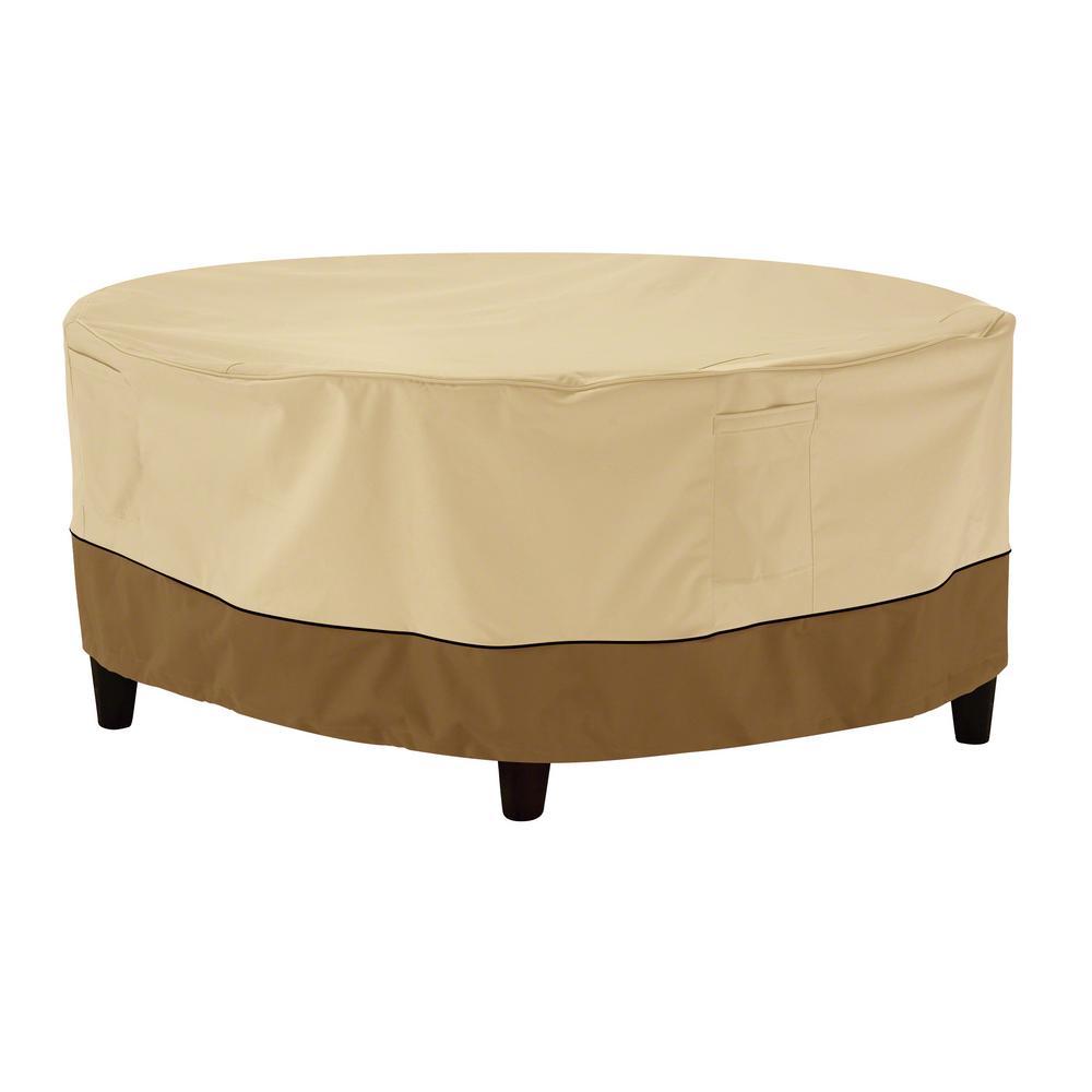 Veranda Small Round Patio Ottoman Table Cover 55 854 021501 00 The Home Depot