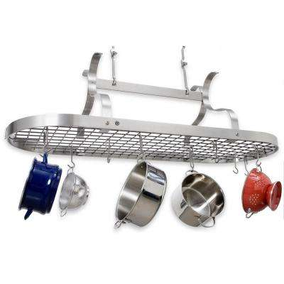 Stainless Steel Hanging Scroll Arm Ceiling Pot Rack