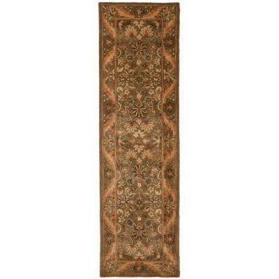 Antiquity Olive Gold 2 Ft 3 In X 16 Runner