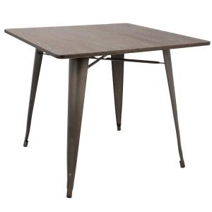 Oregon Antique and Espresso 36 in. Square Dining Table