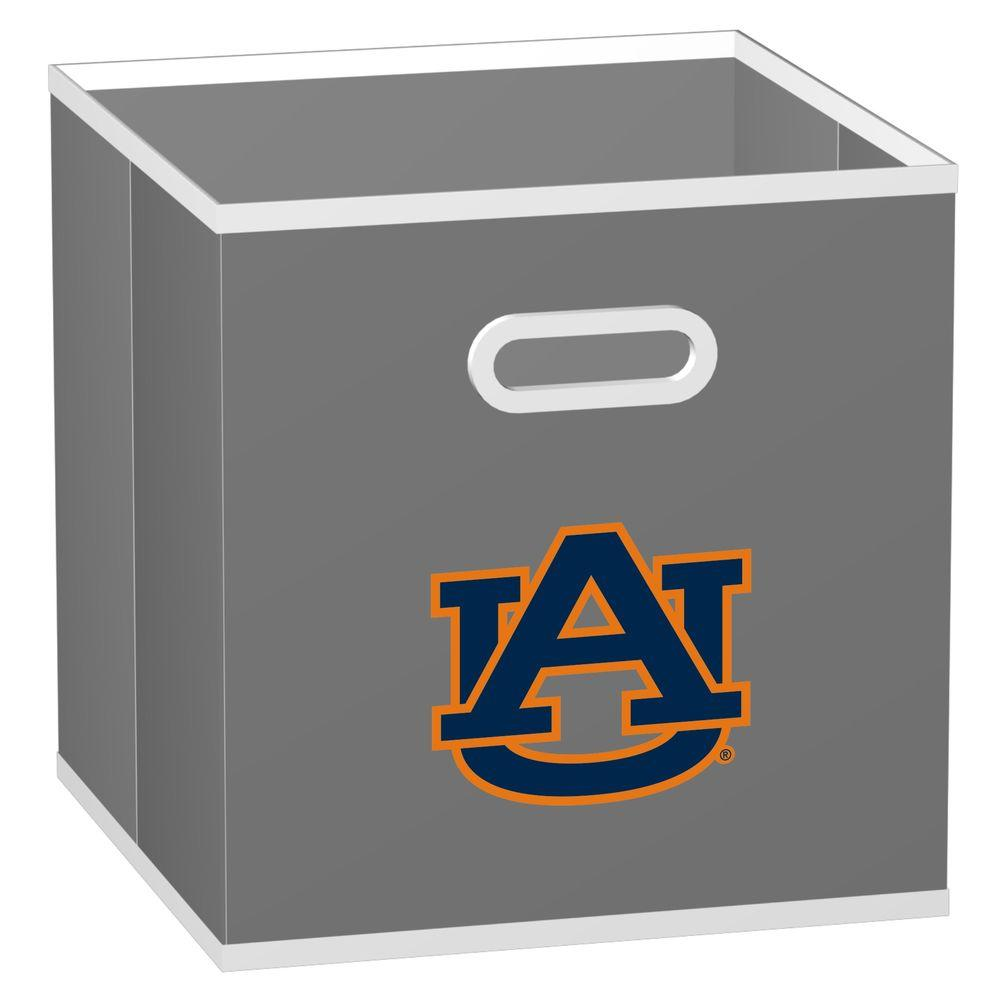 MyOwnersBox College Storeits Auburn University 10-1/2 in. x 11 in. Grey Fabric Storage Drawer