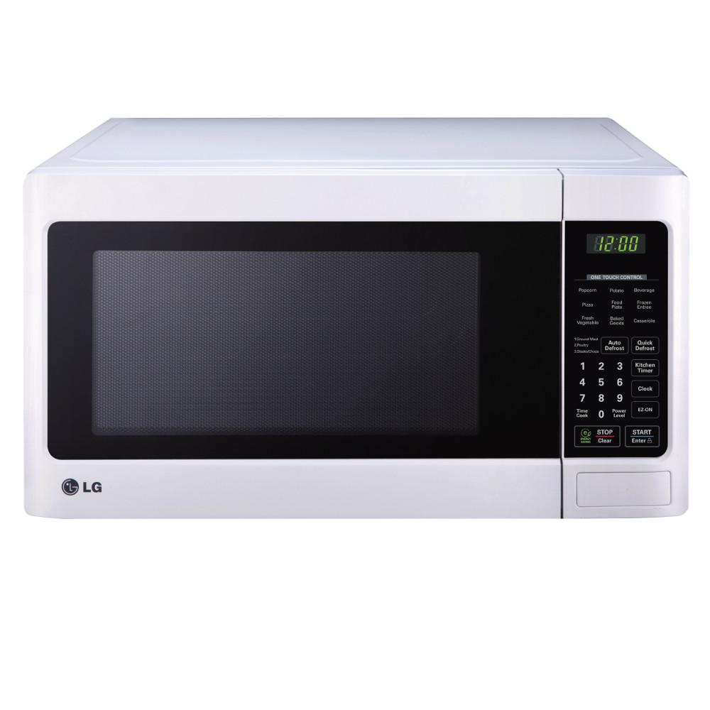 Lg Electronics 1 Cu Ft Countertop Microwave In Smooth White