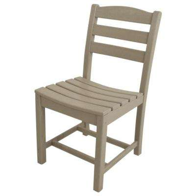 La Casa Cafe Sand All-Weather Plastic Outdoor Dining Side Chair