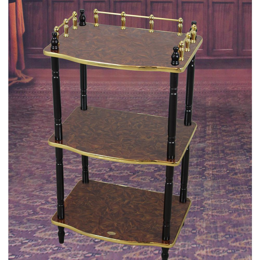Uniquewise 3 Tier Telephone Table Small Book Shelf Accent Side And End