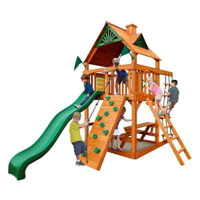 Chateau Tower with Amber Posts Cedar Swing Set