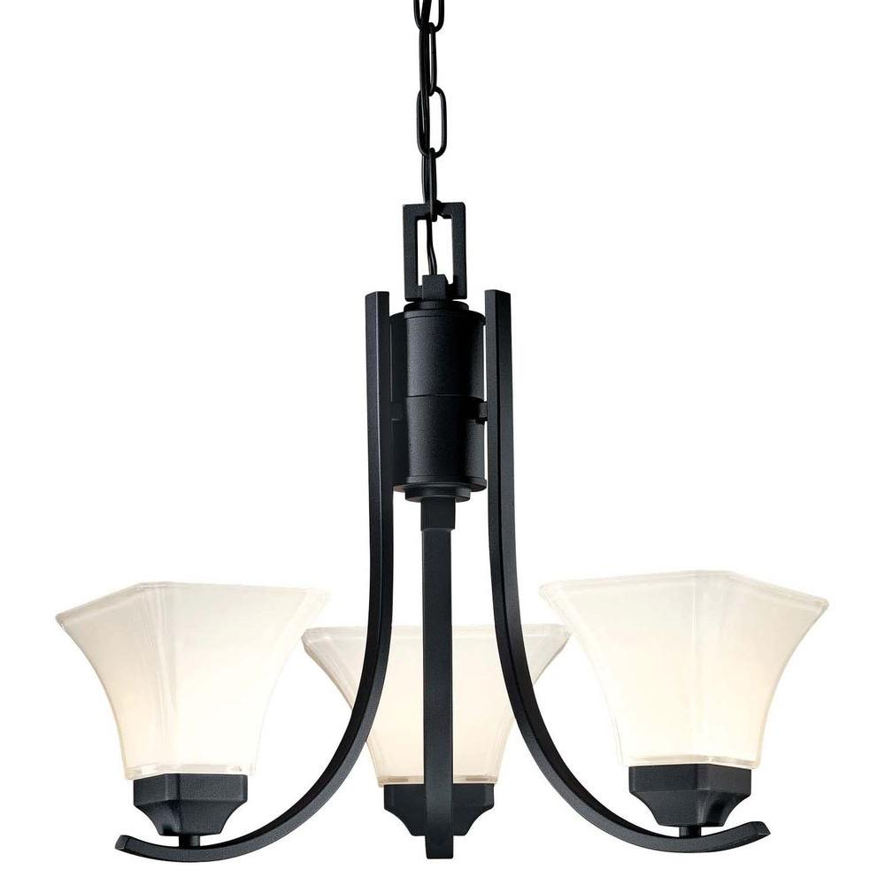 Minka lavery agilis 3 light black chandelier 1813 66 the home depot minka lavery agilis 3 light black chandelier aloadofball Images