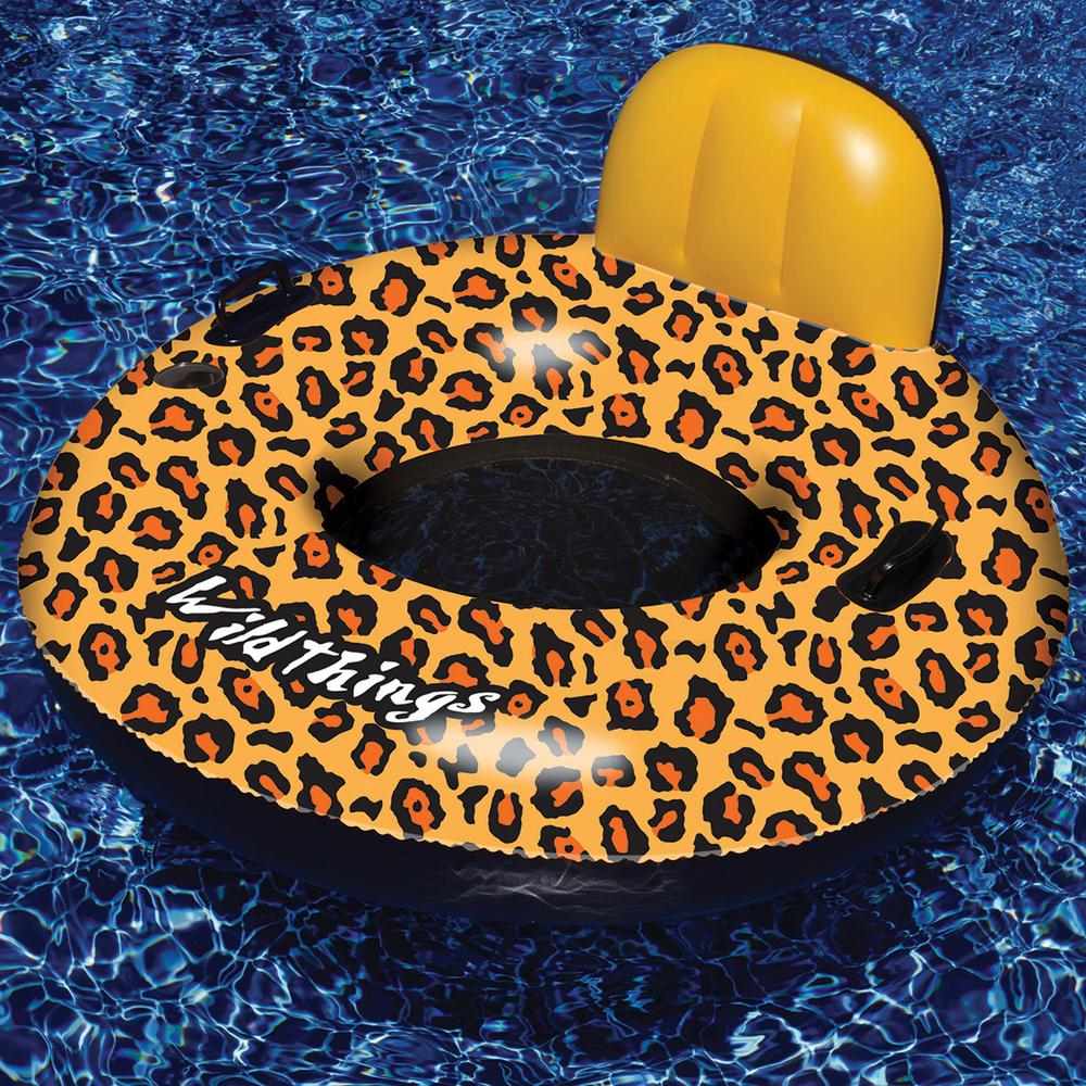 Swimline 45 in. Wild Things Leopard Print Ring Pool Float