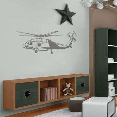 19.5 in. x 60 in. Helicopter Sudden Shadow Wall Decal