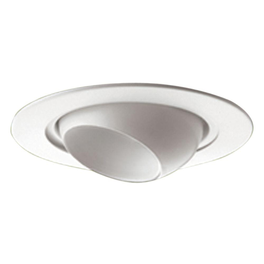 Yosemite Home Decor Recessed Lighting 4.87-in. Eyeball Trim for Recessed Lights, White-DISCONTINUED