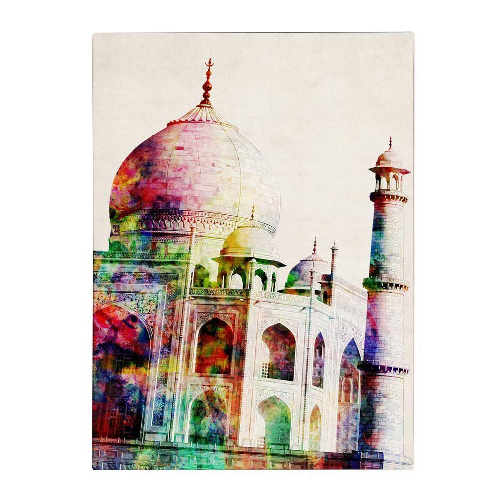 null 24 in. x 18 in. Taj Mahal Canvas Art