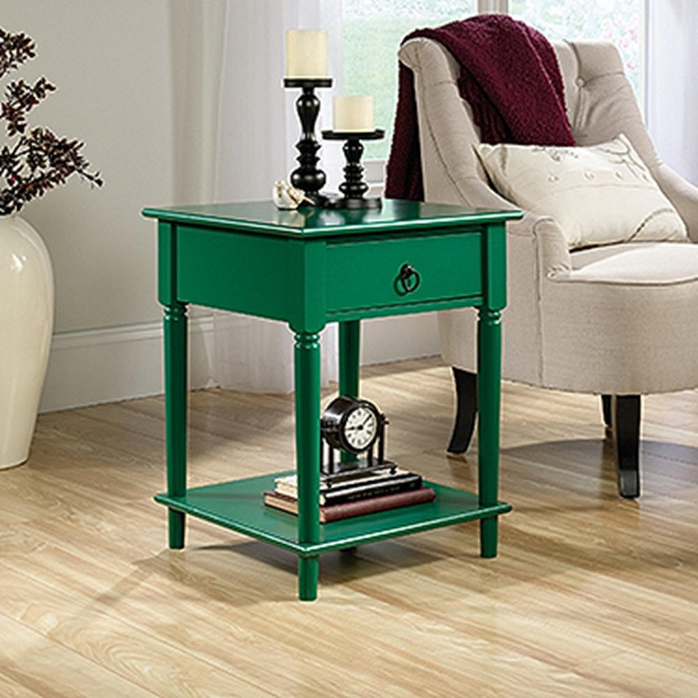 Palladia Collection Emerald Green End and Side Table
