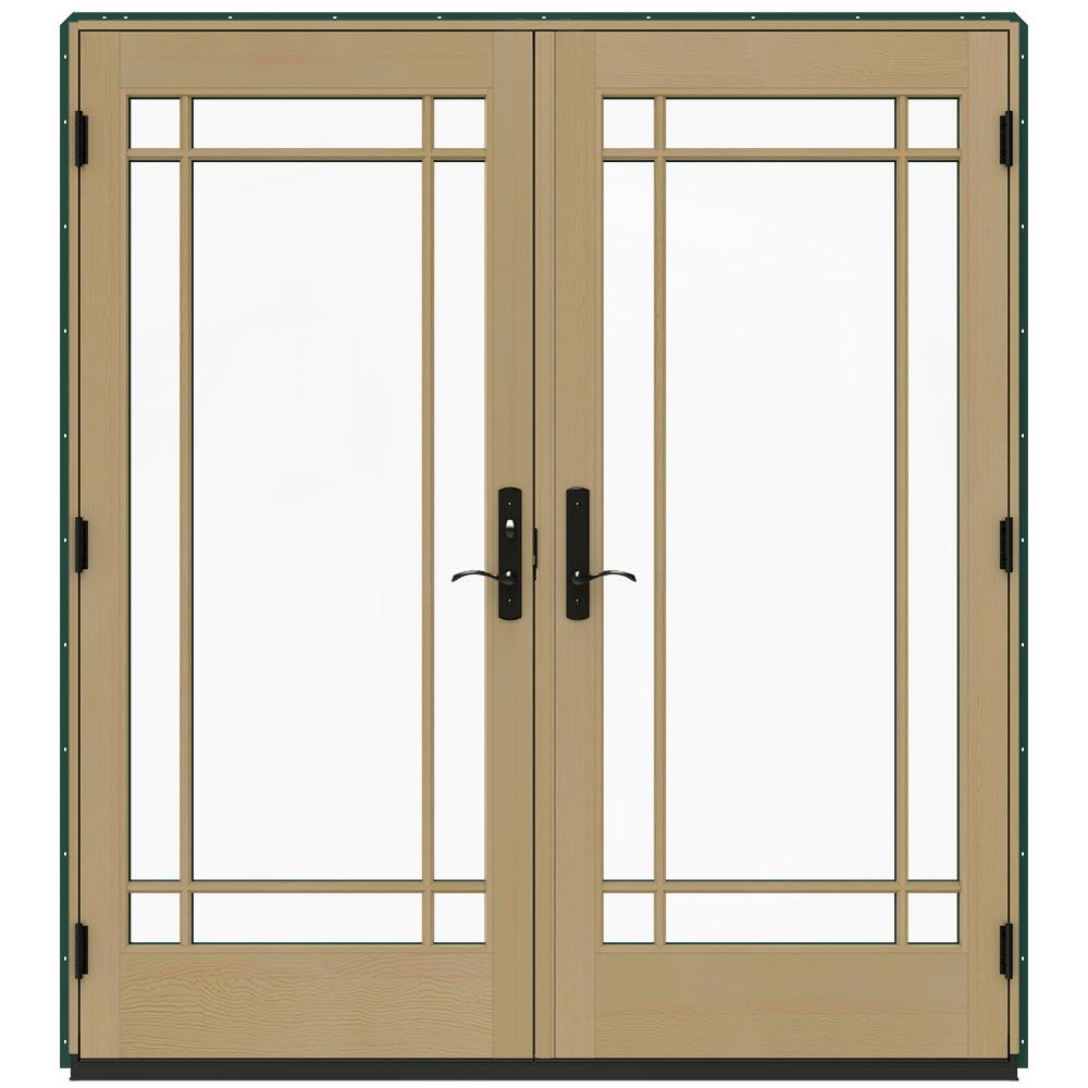 Jeld wen 72 in x 80 in w 4500 hartford green prehung for 18 x 80 french door