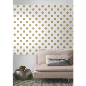 4 Graham Brown White And Gold Dotty Removable Wallpaper