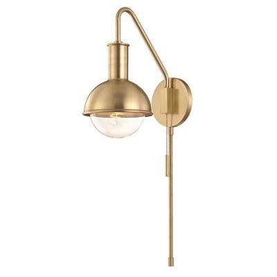 Riley 1-Light Aged Brass Wall Sconce