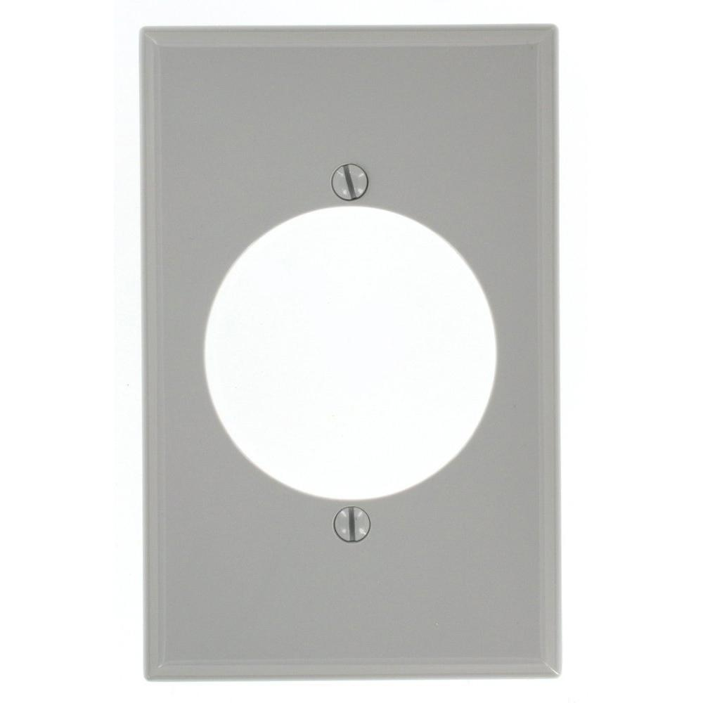 1-Gang with 2.15 in. Dia Hole, Midway Size Nylon Power Outlet