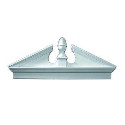 54 in. x 22-3/8 in. x 3-1/8 in. Polyurethane Combination Acorn Pediment with Bottom Trim
