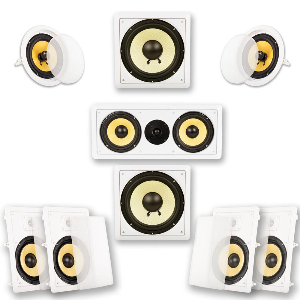 In-Wall/Ceiling Home Theater 7.2 Surround 8 in. Speaker Set In-Wall/Ceiling Home Theater 7.2 Surround 8 in. Speaker Set