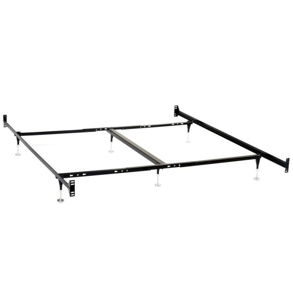 Queen/Eastern King Bed Frame for Headboard and Footboard Black