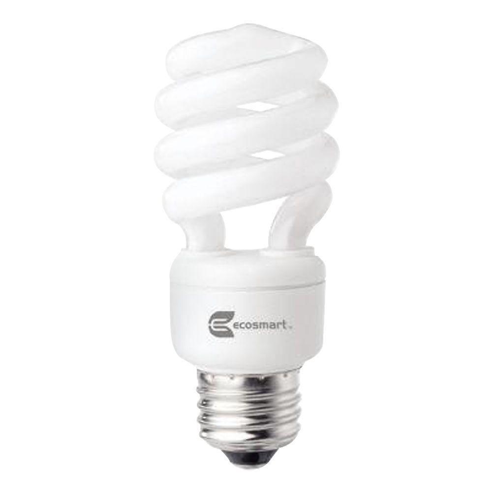 EcoSmart 14-Watt (60W) Bright White CFL Light Bulb (2-Pack) (E)*