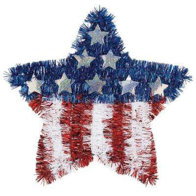 11.5 in. x 12 in. Flag Tinsel Star (6-Pack)
