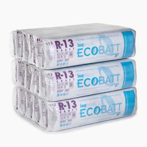 R-13 EcoBatt Kraft-Faced Fiberglass Insulation Batt 3-1/2 in. x 15 in. x 105 in. (15-Bags)