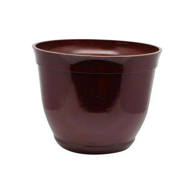 15 in. Large Red Bowl Plastic Planter