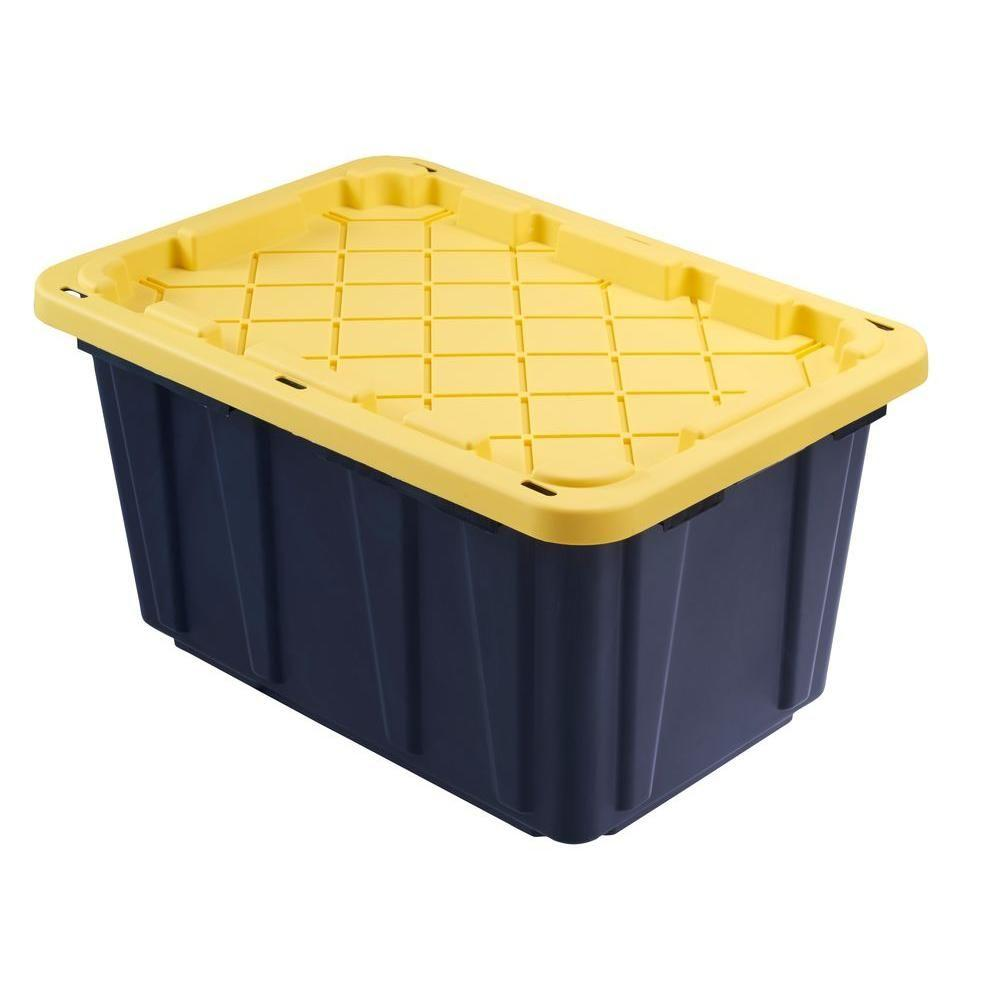 HDX 27 Gal. Tough Storage Bin in Black