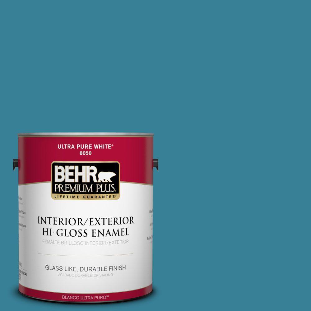 BEHR Premium Plus 1-gal. #540D-6 Wipeout Hi-Gloss Enamel Interior/Exterior Paint