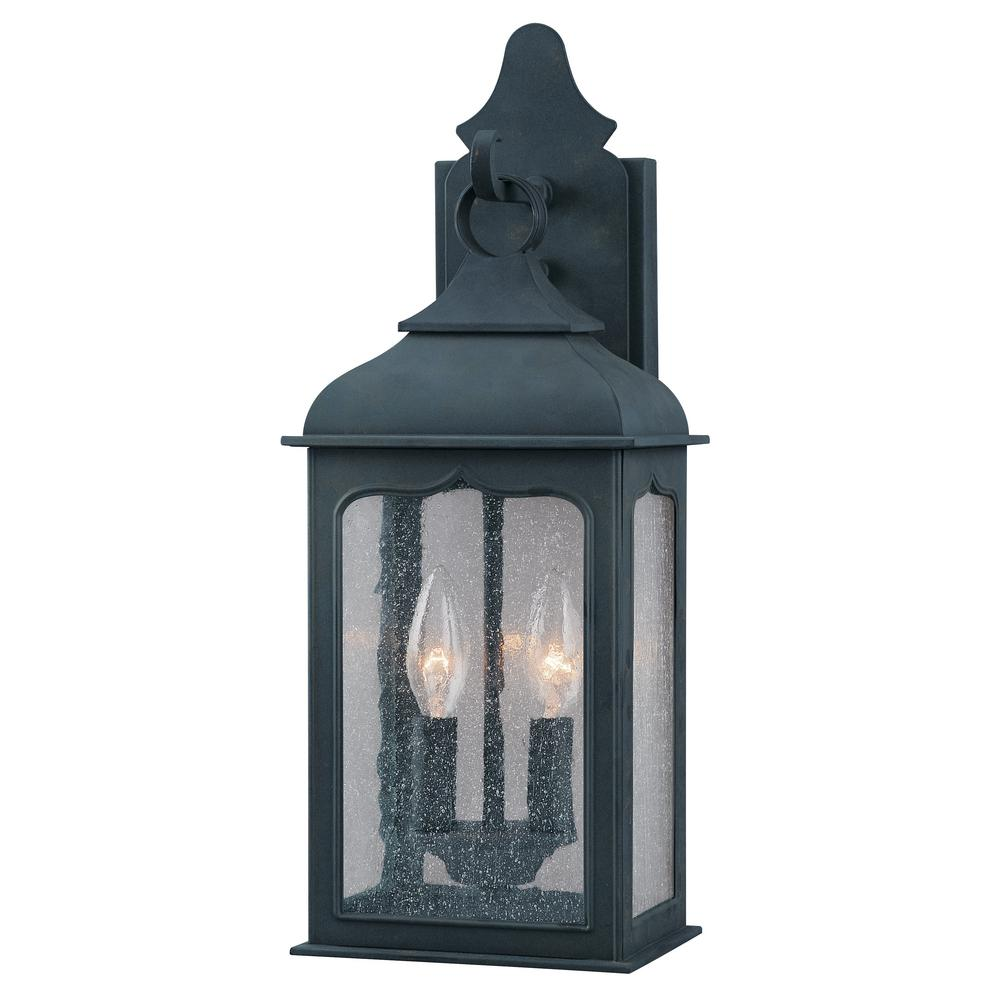 Troy Lighting Henry Street 2 Light Colonial Iron Outdoor Wall Lantern