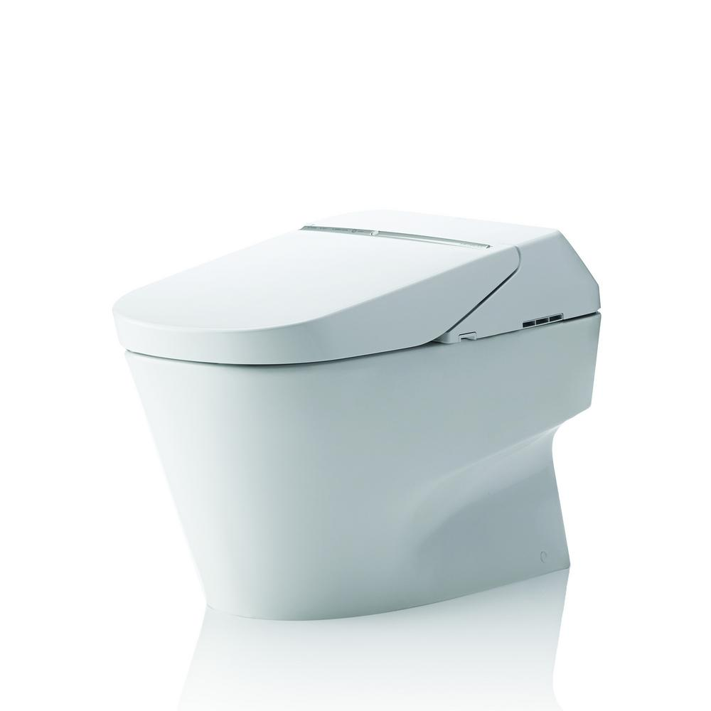 TOTO Neorest 700H 2 Piece 08 10 GPF Dual Flush Elongated Toilet With CeFiONtect In Cotton White MS992CUMFG01
