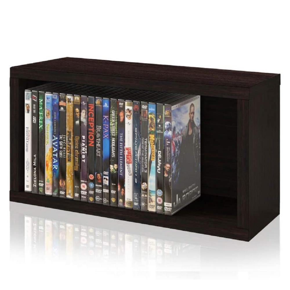 zBoard Espresso Stackable DVD Rack Storage