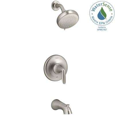 Willamette Single Handle 3 Spray Tub And Shower Faucet In Vibrant Brushed  Nickel (