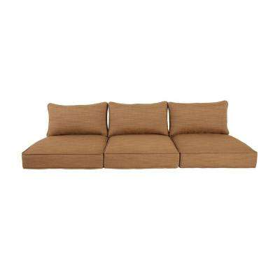 Greystone Toffee Replacement Outdoor Sofa Cushion