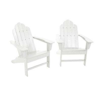 long island white adirondack 2piece patio seating set