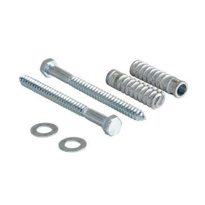0.75 in. W 6.375 in. H 0.75 in. D Silver 2 Spike Concrete Hardware Kit for Car Stop