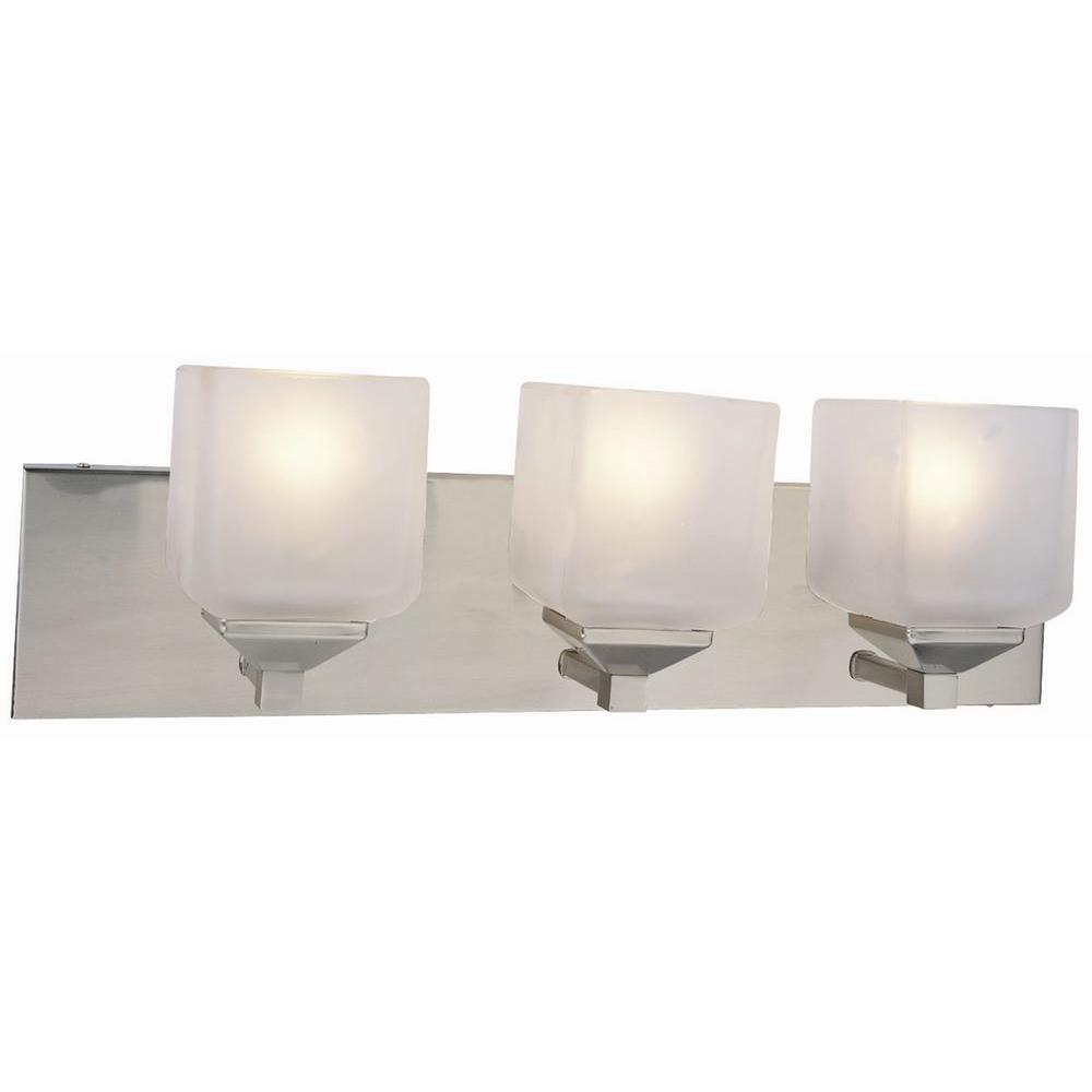 Syrah 3-Light Satin Nickel Vanity Light