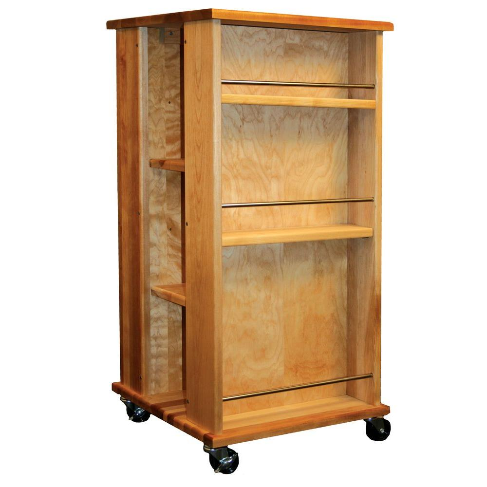 Catskill Craftsmen Natural Kitchen Cart with Adjustable Shelves