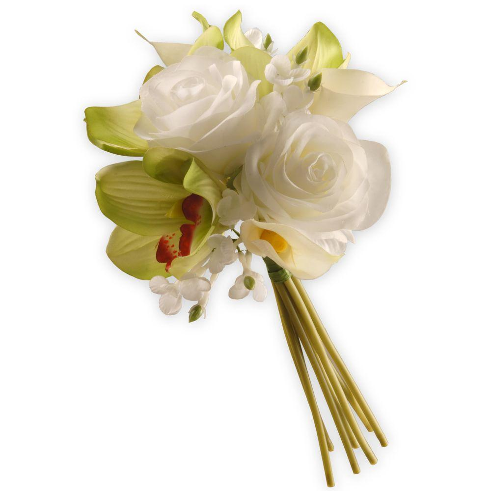 National Tree Company 10 In Garden Accents Rose And Calla Lily