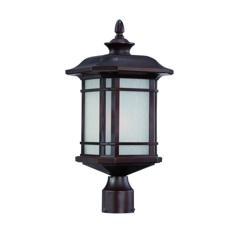 Somerset 1-Light Architectural Bronze Outdoor Post-Mount Light Fixture