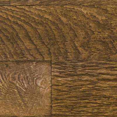 Superior 10 in. x 10 in. Faux Barnwood Panel Siding Sample Coffee Bean