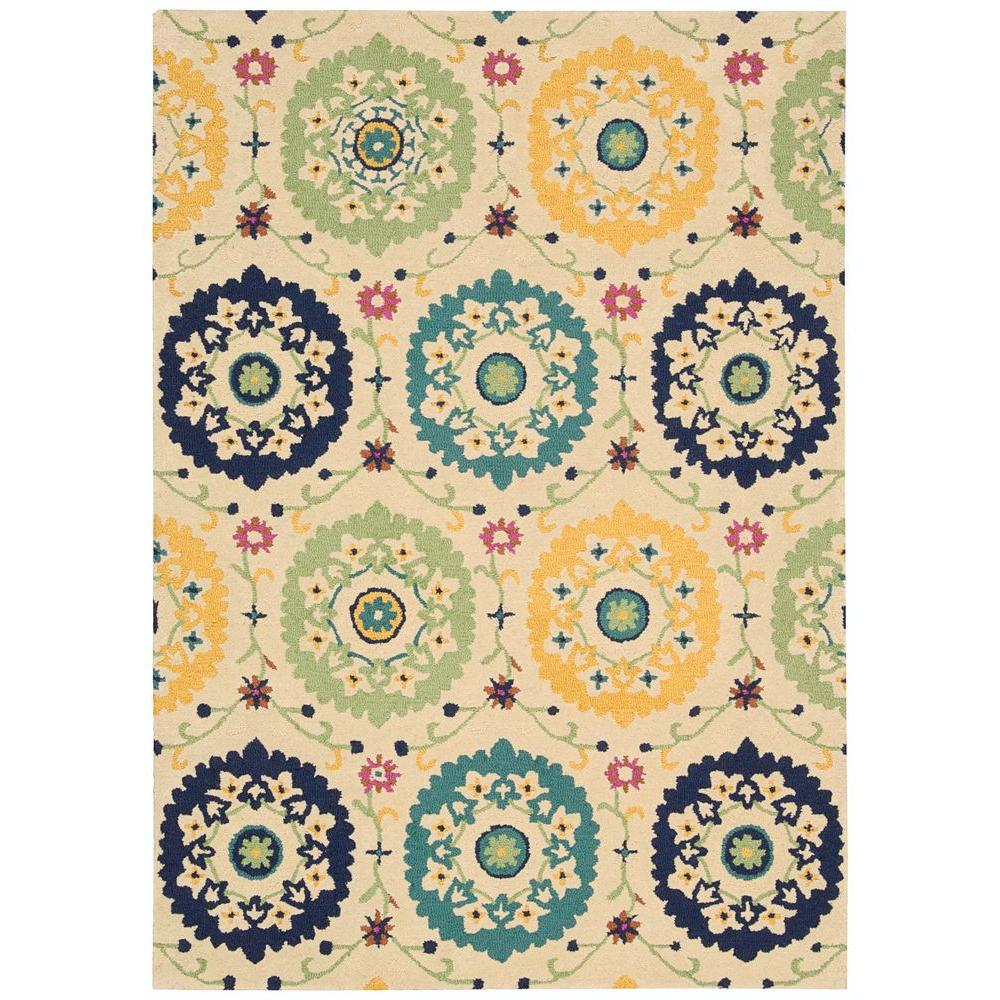 Suzani Ivory 3 ft. 9 in. x 5 ft. 9 in.
