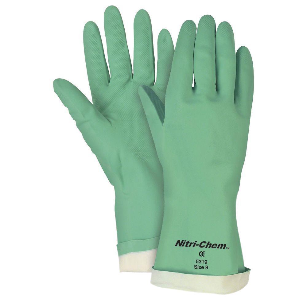 Nitri-Chem Flock Lined Nitrile Gloves