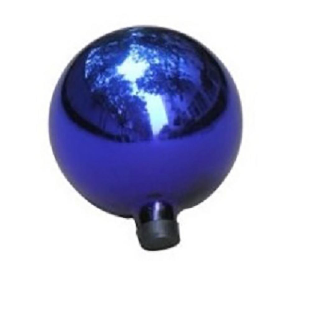 10 in. Royal Blue Glass Outdoor Patio Garden Gazing Ball