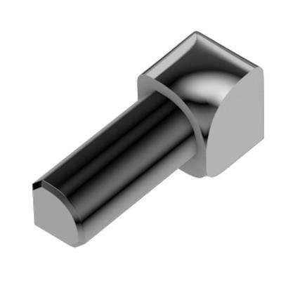 Rondec Polished Chrome Anodized Aluminum 1/2 in. x 1 in. Metal 90 Degree Inside Corner