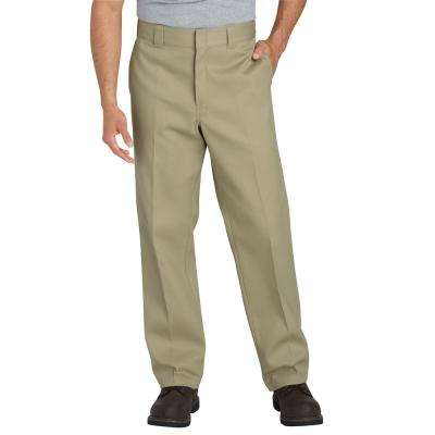 Men's 36 in. x 32 in. Desert Sand Flex Twill Work Pant